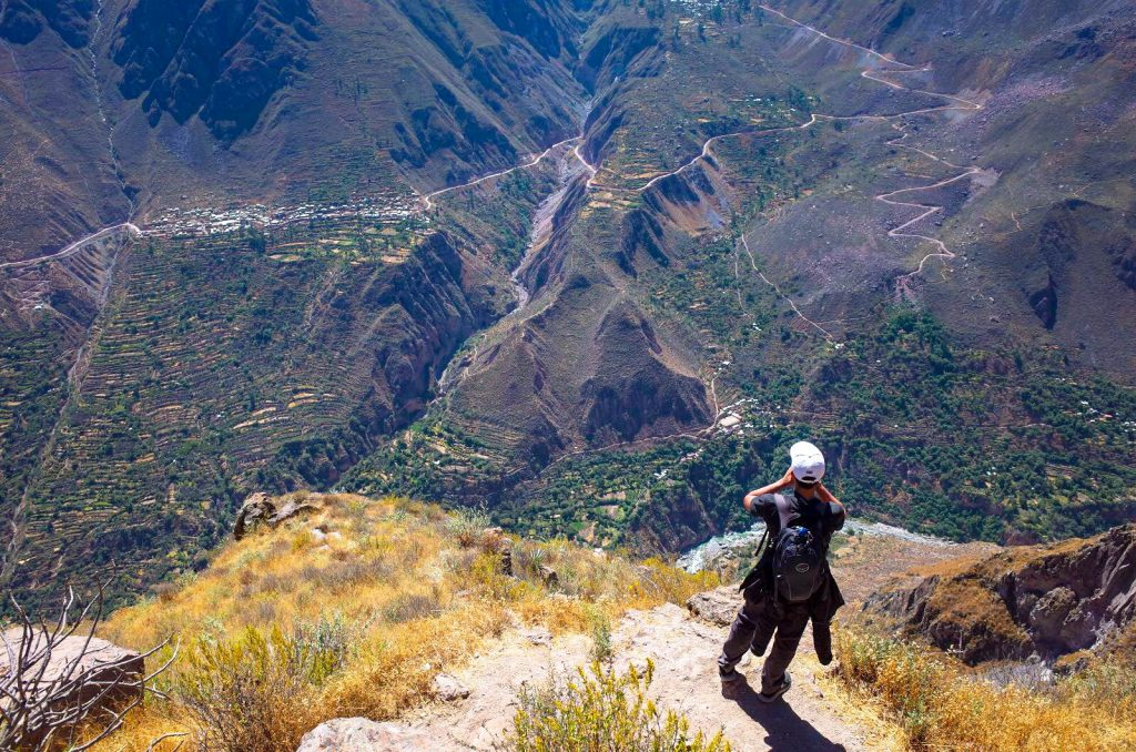 Testing out my echo at the Colca Canyon in Arequipa, Peru.